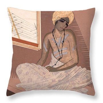 Illustration For Kim By Rudyard Kipling Throw Pillow by Francois-Louis Schmied