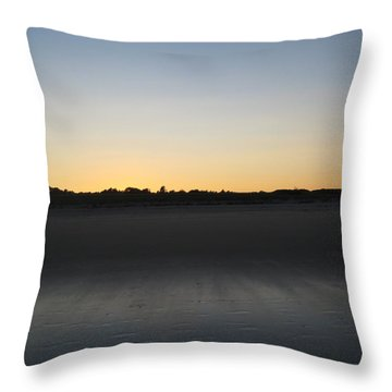In The Shadow Of The Dunes Throw Pillow
