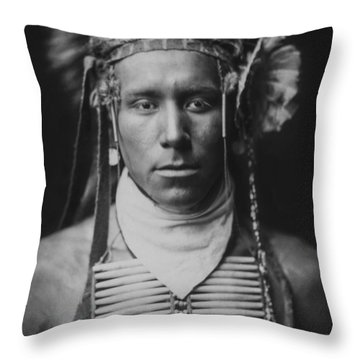 Indian Of North America Circa 1905 Throw Pillow by Aged Pixel