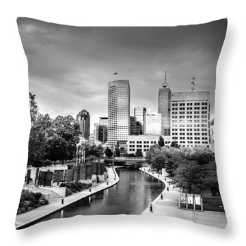Indianapolis Throw Pillow by Alexey Stiop