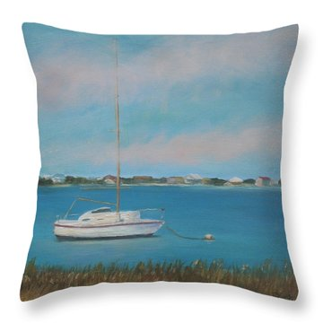 Inlet Drive Throw Pillow