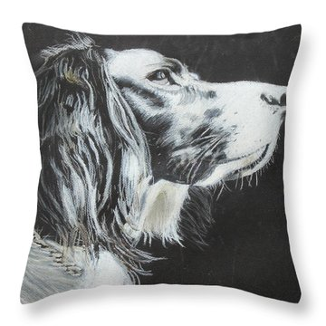 Intent Throw Pillow by Jeanne Fischer