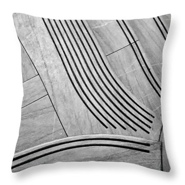 Intersection Of Lines And Curves Throw Pillow by Gary Slawsky