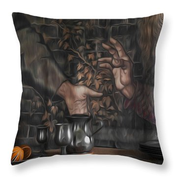 Invitation Throw Pillow by Svetlana Sewell