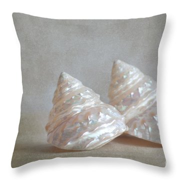 Iridescent Shells Throw Pillow by Aiolos Greek Collections