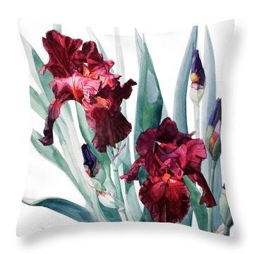 Iris Donatello Throw Pillow