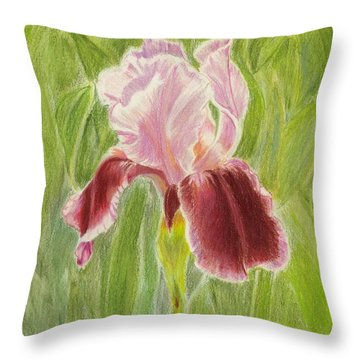 Iris Throw Pillow by Ruth Seal