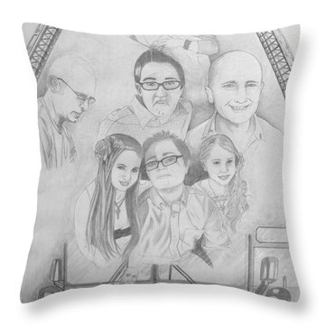 Iron Will Throw Pillow by Justin Moore