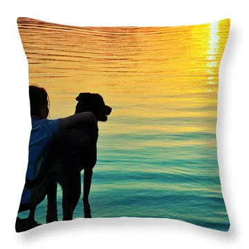 Island Throw Pillow by Laura Fasulo