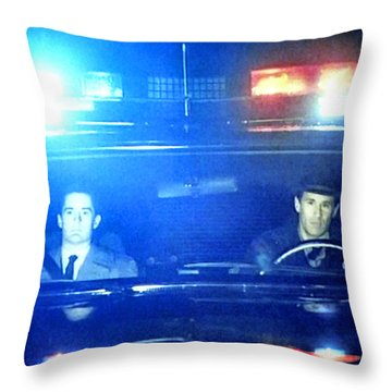 Throw Pillow featuring the painting Its Either Joey Or James Hurley by Luis Ludzska