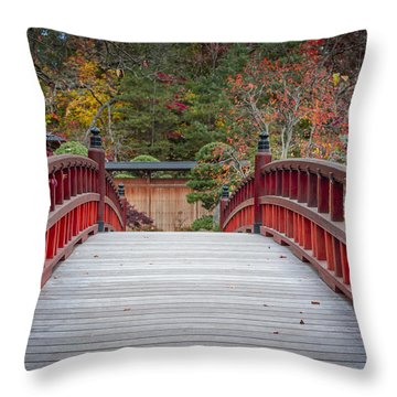 Throw Pillow featuring the photograph Japanese Bridge by Sebastian Musial