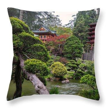 Japanese Tea Garden - Golden Gate Park Throw Pillow