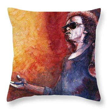 Jazz Miles Davis Throw Pillow