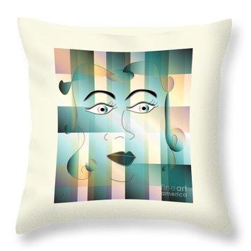 Jeana Throw Pillow by Iris Gelbart