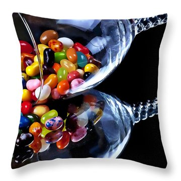 Jellies Throw Pillow by Camille Lopez