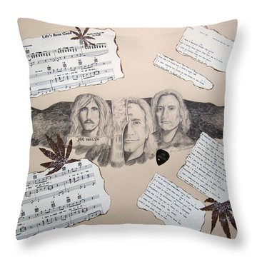 Joe Walsh Good Life Throw Pillow by Renee Catherine Wittmann