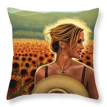 Julia Roberts Throw Pillow