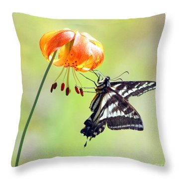 Throw Pillow featuring the photograph July by Irina Hays