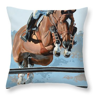 Horses Throw Pillows
