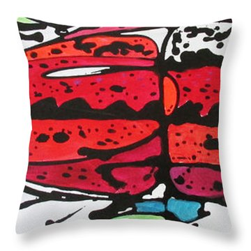 Throw Pillow featuring the painting Karl by Nicole Gaitan