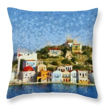 Kastellorizo Island Throw Pillow