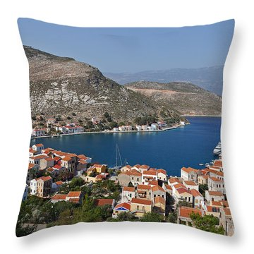 Kastelorizo Island Throw Pillow