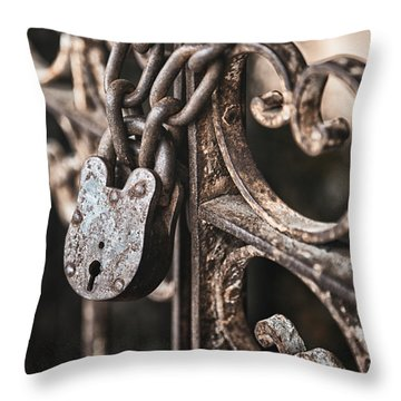 Keyless Throw Pillow by Caitlyn  Grasso