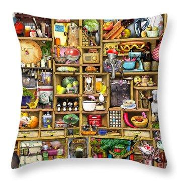 Kitchen Cupboard Throw Pillow