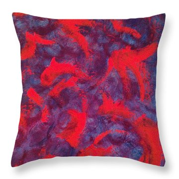 koi Throw Pillow by Jacqueline McReynolds