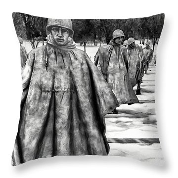 Korean War Memorial Washington Dc Throw Pillow