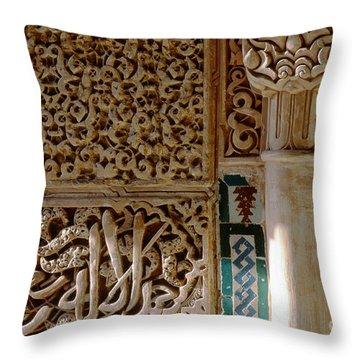 La Alhambra Granada Throw Pillow by Guido Montanes Castillo