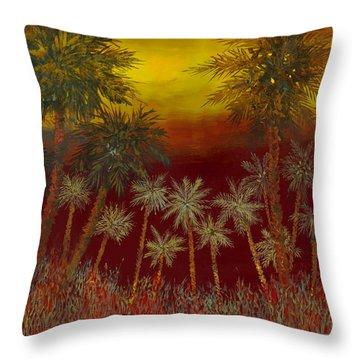 La Jungla Rossa Throw Pillow by Guido Borelli