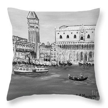 Throw Pillow featuring the painting Laguna by Loredana Messina