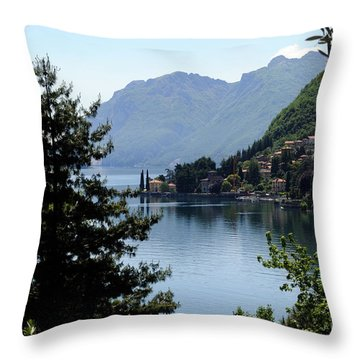 Lake Como Italy  Throw Pillow by Haleh Mahbod