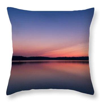 Lake Lanier After Sunset Throw Pillow
