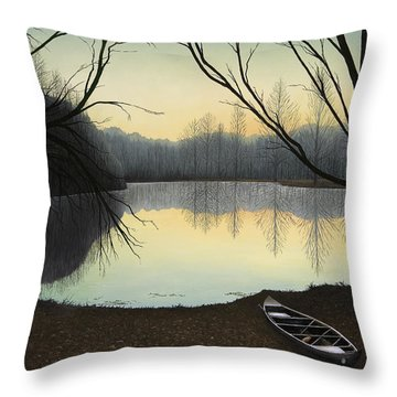 Lake Lene' Morning Throw Pillow