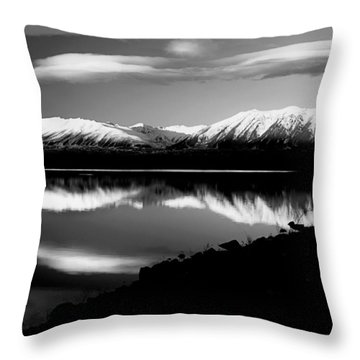 Lake Mcgregor New Zealand Throw Pillow