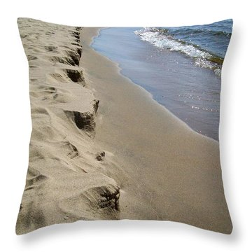 Lake Michigan Shoreline Throw Pillow