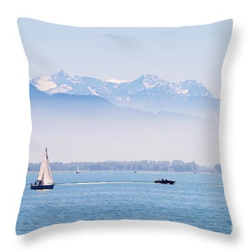 Lake Of Constance Throw Pillow by Nick  Biemans