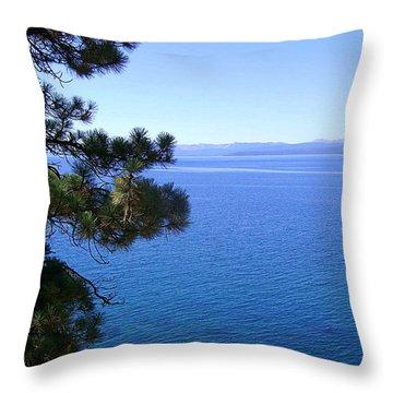 Lake Tahoe 2 Throw Pillow by J D Owen