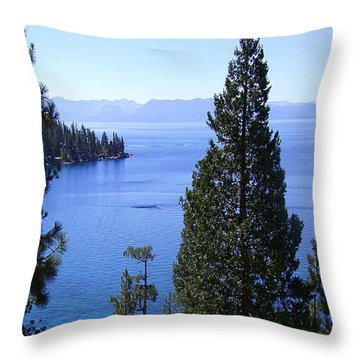 Lake Tahoe 4 Throw Pillow by J D Owen