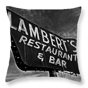 Lambert's Restaurant And Bar Throw Pillow by Andy Crawford