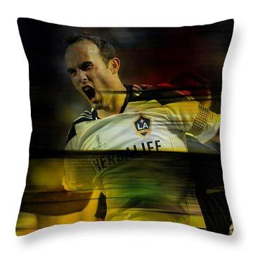 Landon Donovan Throw Pillow by Marvin Blaine
