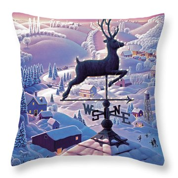 Lands End Weathervane Throw Pillow by Robin Moline