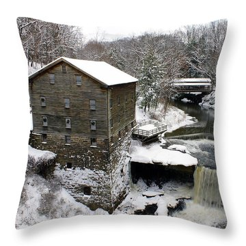 Lantermans Mill Throw Pillow by Michelle Joseph-Long