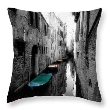 L'aqua Magica Throw Pillow by Micki Findlay