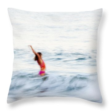 Last Days Of Summer Throw Pillow by Carol Leigh