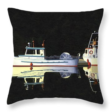 Last Light  Island Moorage Throw Pillow