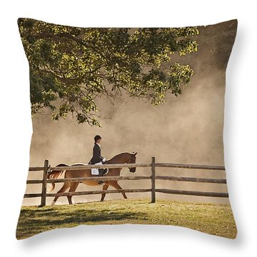 Last Ride Of The Day Throw Pillow