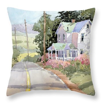 Laurel Mountain Highlands Farm Throw Pillow
